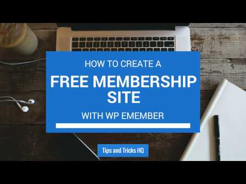 WP eMember – Setting up a Free Membership Site