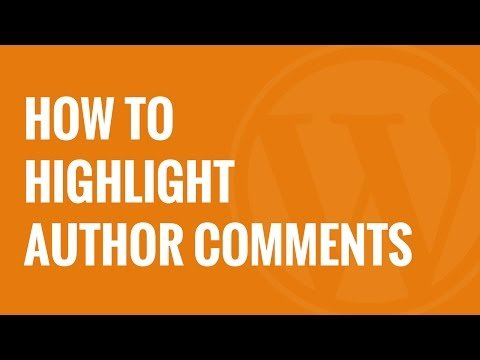 How to Highlight Author's Comments in WordPress