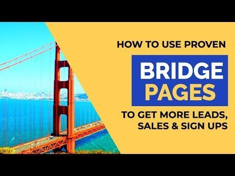 Using Affiliate Bridge Pages to DRAMATICALLY Increase Conversions